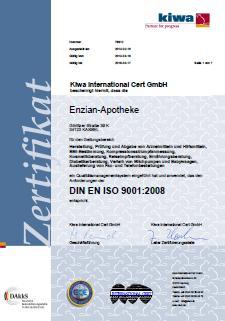 Zertifikat-KIWA-Enzian-Apotheke